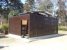 箕輪城跡バイオトイレ
