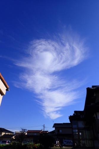 台風のような雲