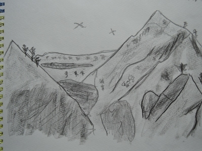 バツールさん途中の山小屋から