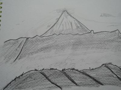 帯那山から富士山