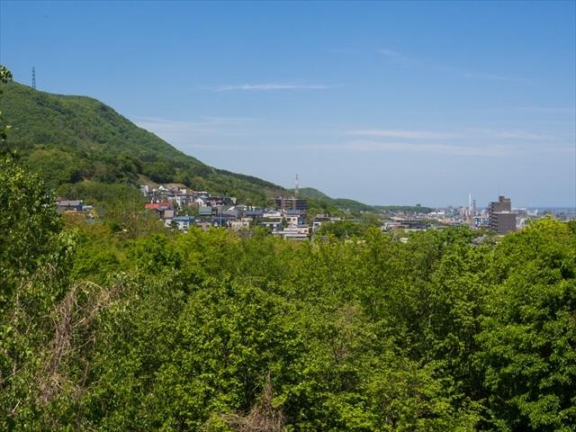宮丘公園から見た札幌の街