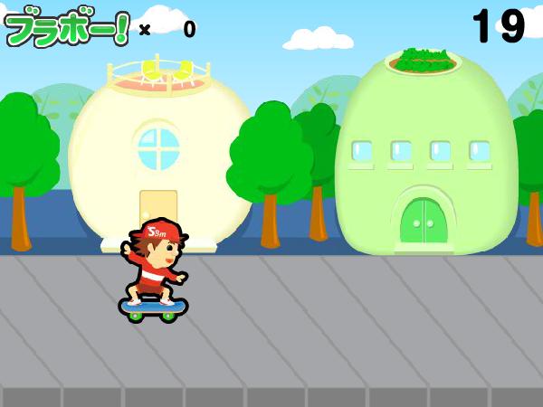 GamePark スケボーマン プレイ画面