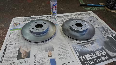 Fブレーキローター塗装