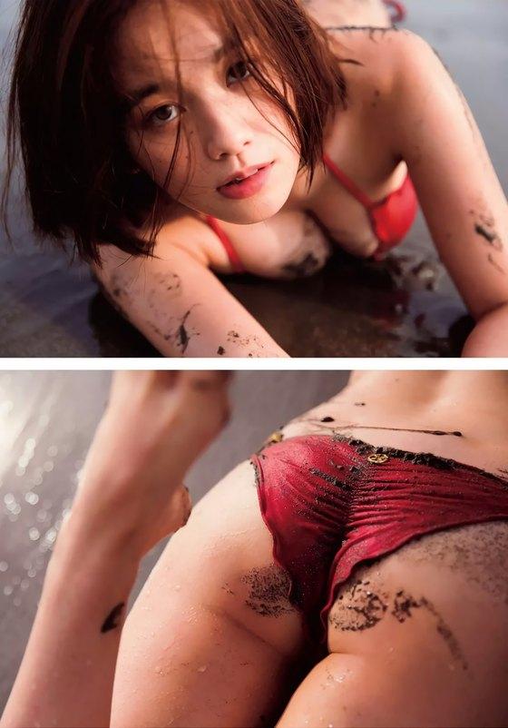 筧美和子 FLASHの写真集先行ノーブラHカップ爆乳 画像25枚 14