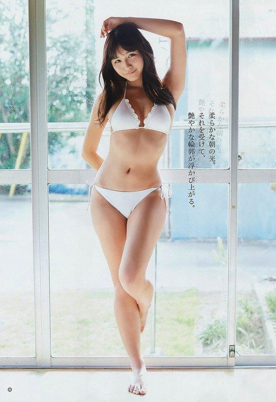 浅川梨奈 ヤングガンガンの最新水着Eカップ谷間グラビア 画像30枚 3