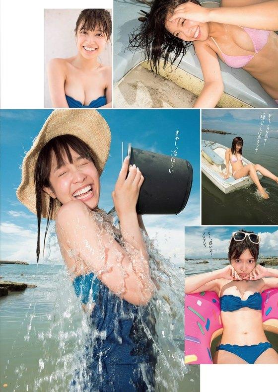 松本愛 週プレの水着姿Cカップ谷間&美尻食い込み 画像26枚 2