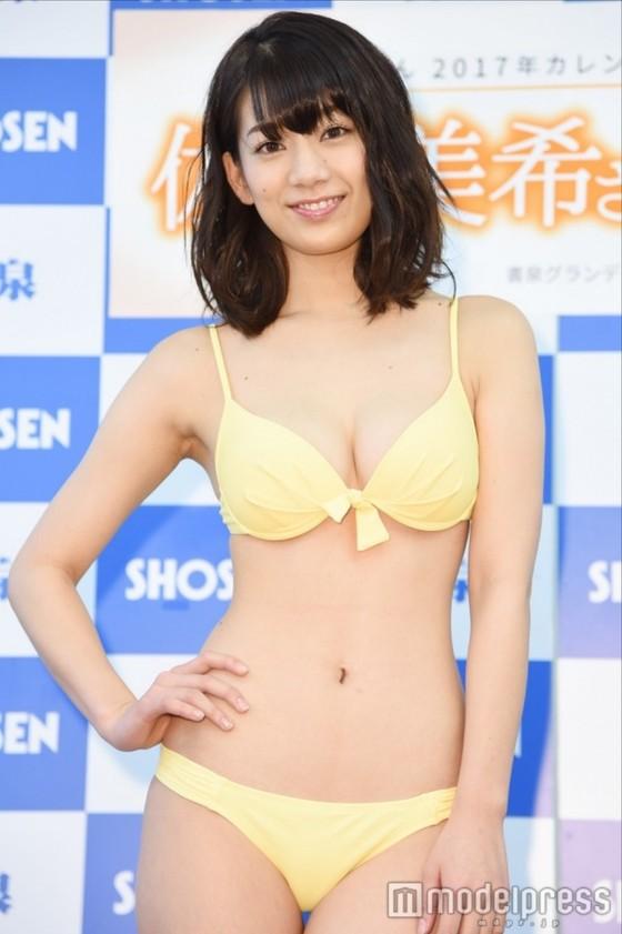 佐藤美希 カレンダー販促イベントの水着姿Fカップ谷間 画像30枚 7
