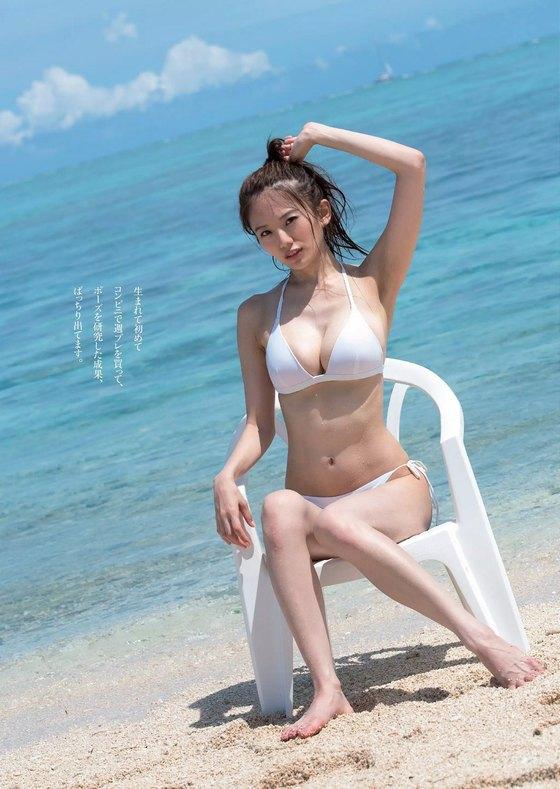 伊東紗冶子 週プレの最新水着姿Gカップ爆乳グラビア 画像24枚 11
