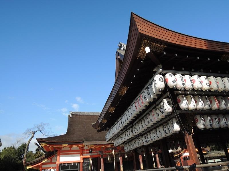 八坂神社に着いたら快晴です