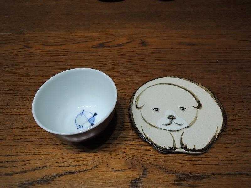 琳派の犬のお皿