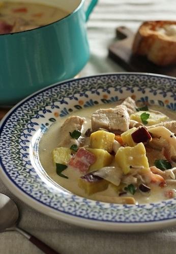 鶏肉とさつまいものスープ