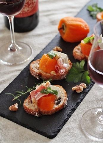 あんぽ柿とクリームチーズのタルティーヌ