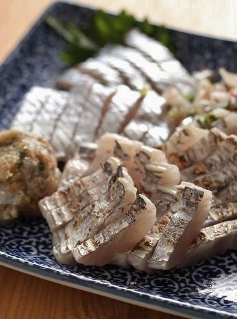 太刀魚のお刺身盛り合わせ