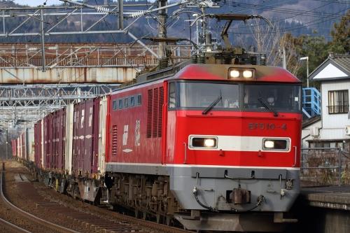 EF510-4・4091レ 来迎寺駅