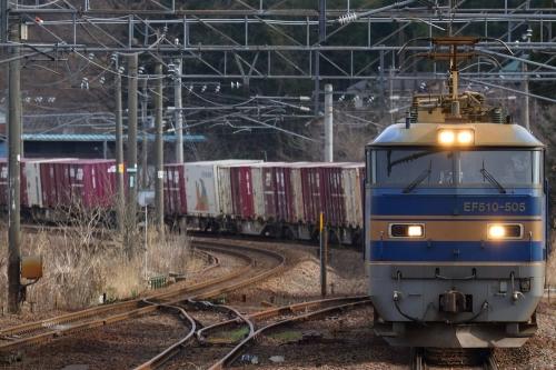 EF510-505・4060レ 越後広田駅