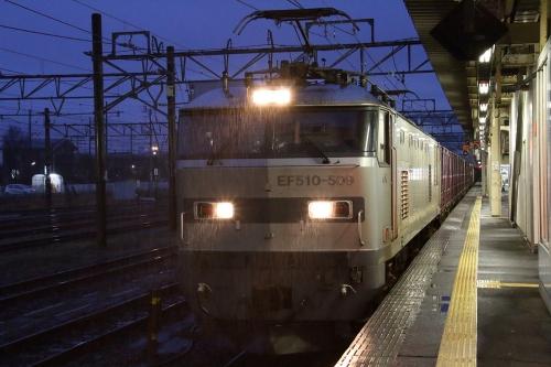 EF510-509・4095レ 直江津駅