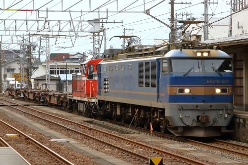 EF510-506・3097レ 糸魚川駅