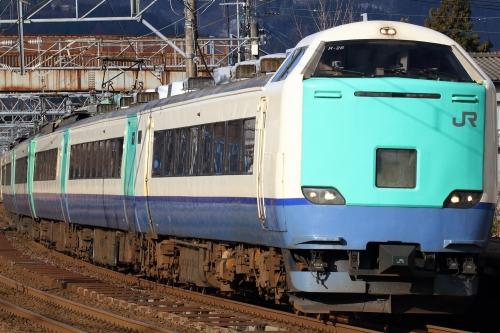 485系信越本線快速列車 来迎寺駅