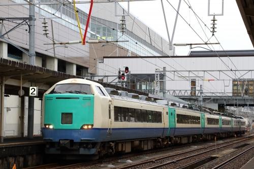 485系信越本線快速列車 糸魚川駅