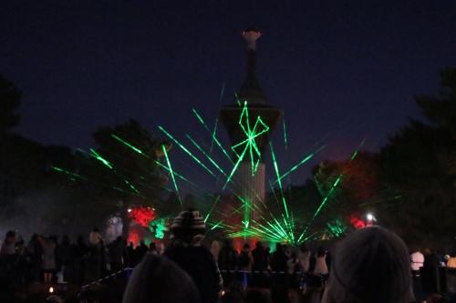 光の花桟敷