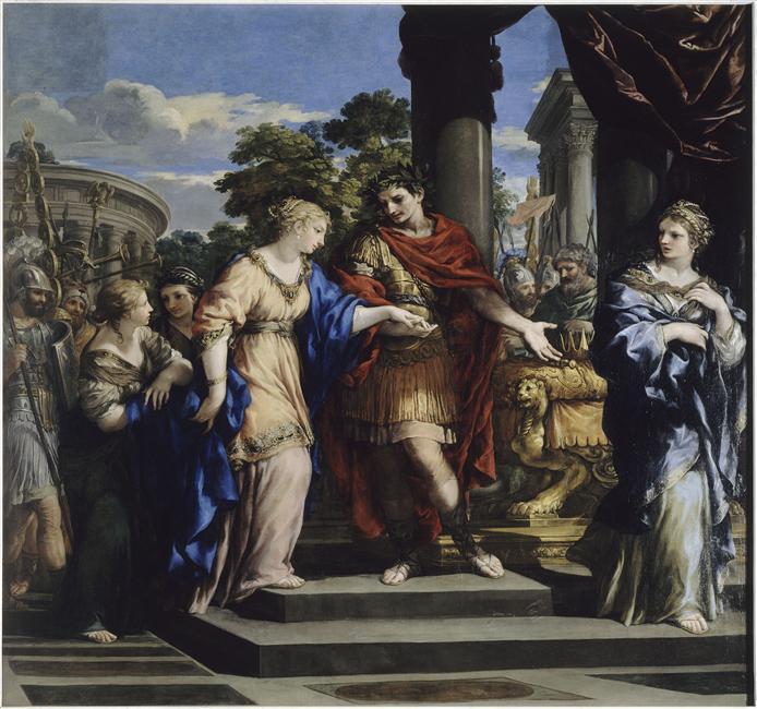ピエトロ・ダ・コルトーナ 『クレオパトラをエジプト女王へ据えるカエサル』1637年