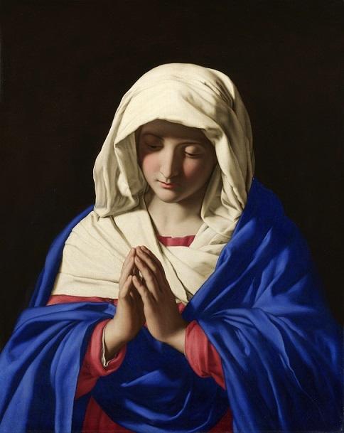 ジョヴァンニ・バッティスタ・サルヴィ 『祈りの聖母』
