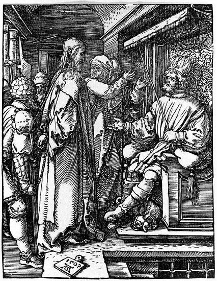 アルブレヒト・デューラー 『ヘロデ・アンティパスとイエス』1509年