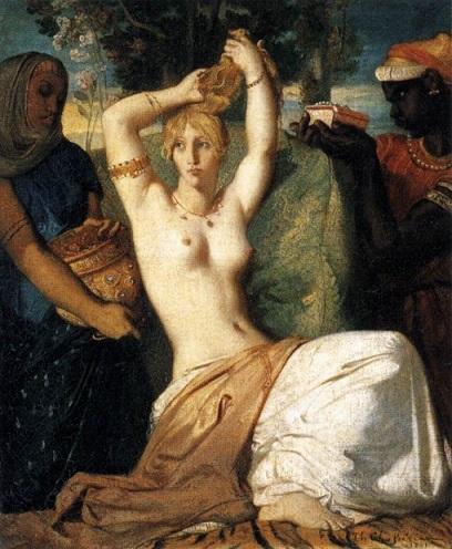 テオドール・シャセリオー 『エステルの化粧』