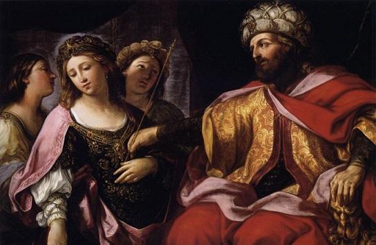ジョヴァンニ・アンドレア・シラーニ 『アハシュエロスの前に立つエステル』