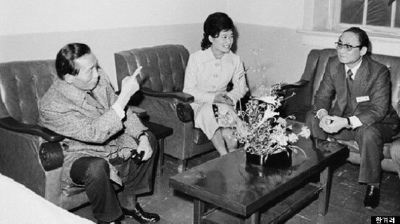 左より朴正煕、朴槿恵、崔太敏