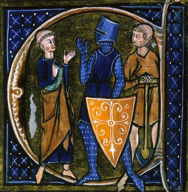 戦う人(騎士)、祈る人(聖職者)、働く人(農民)の中世西欧三身分を表す図