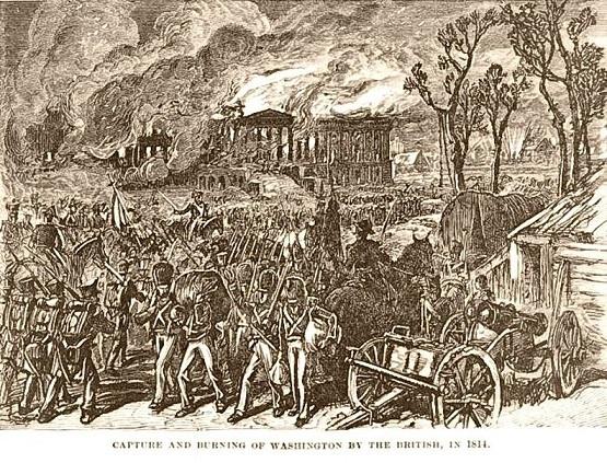首都ワシントンの焼き討ち 1814年