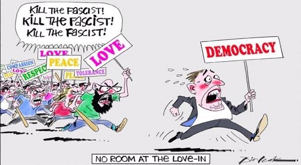 反トランプデモ 風刺画