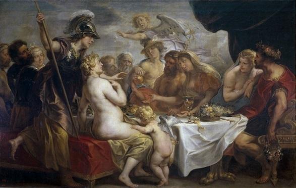 ヤーコブ・ヨルダーンス 『不和の黄金の林檎』 1633年