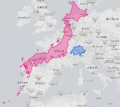 日本 スイス 地図