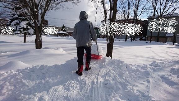 除雪してたおじいちゃん