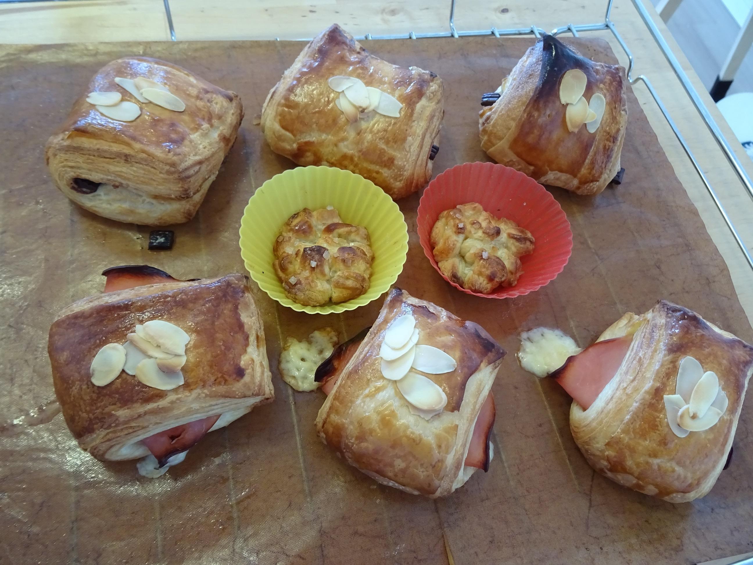 ハムチーズデニッシュ&パンオショコラ レッスンレポート1