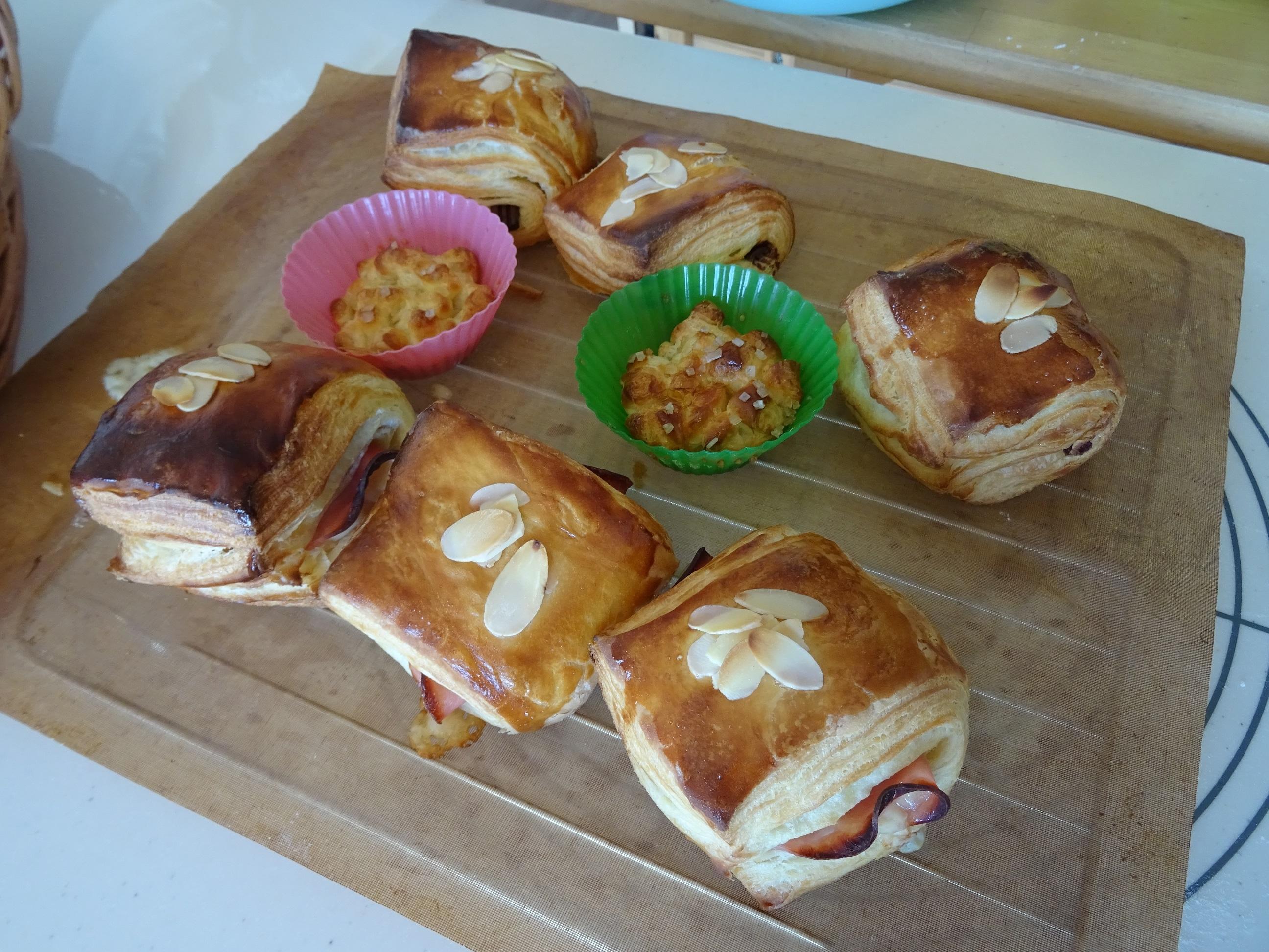 ハムチーズデニッシュ&パンオショコラ レッスンレポート2