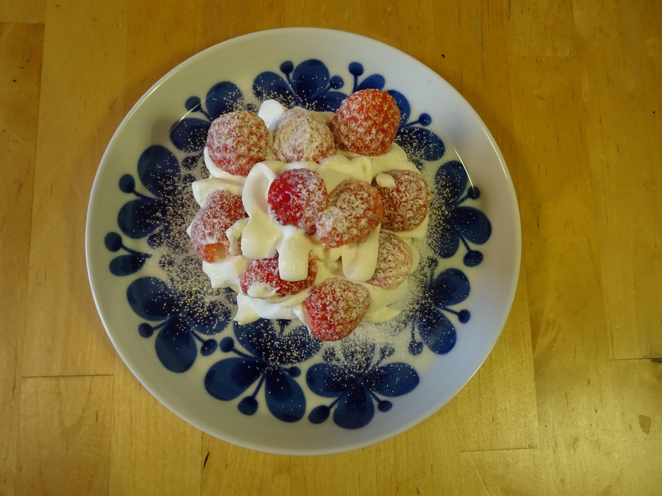 苺のパンケーキ1