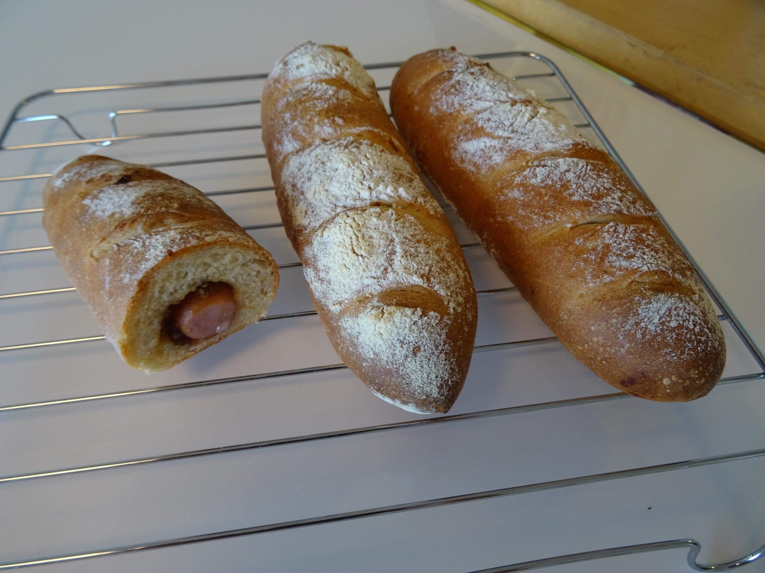 ソーセージフランス&ショコラマーブル&大納言と抹茶の渦巻きパン レッスンレポート1