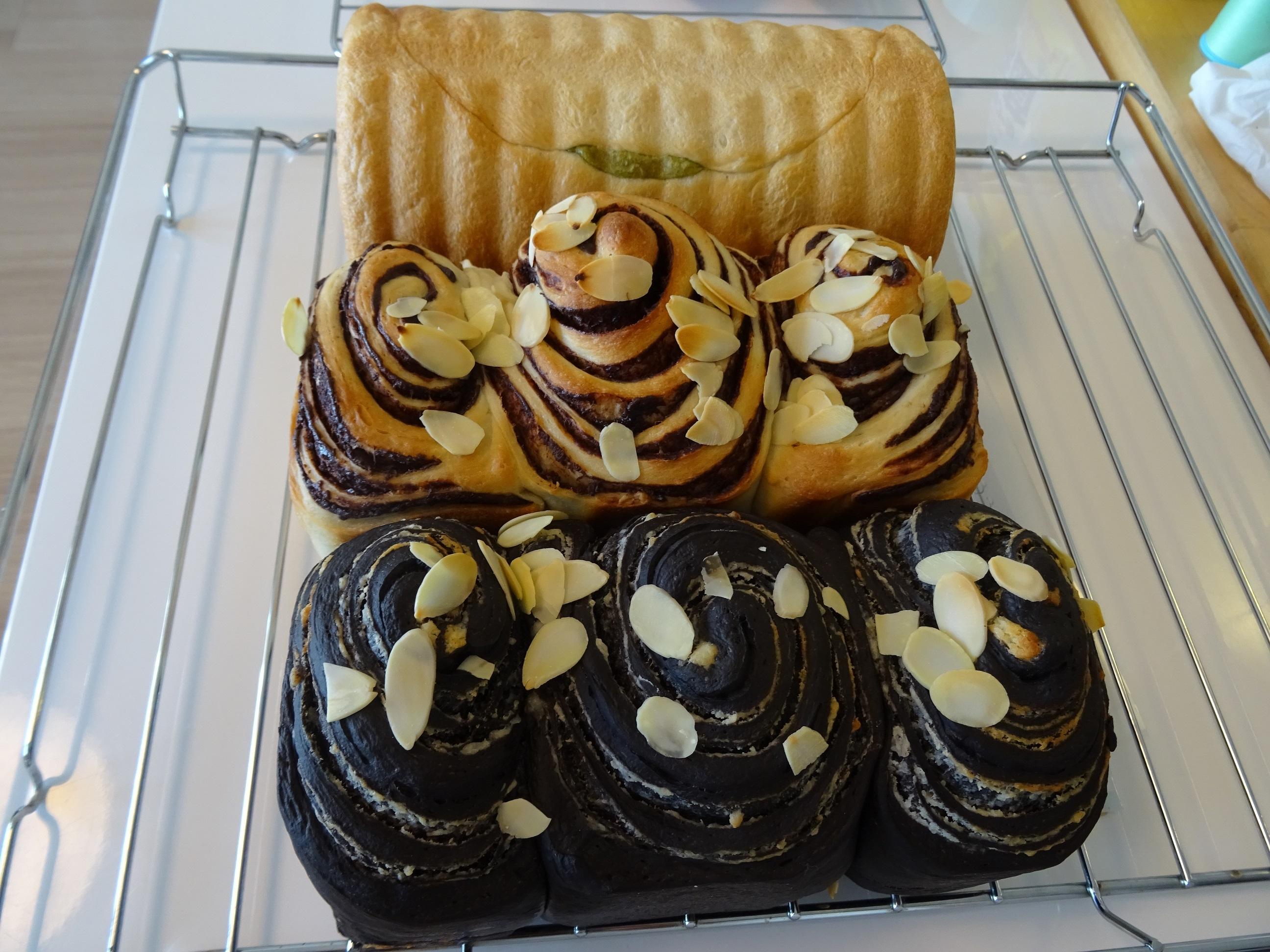 ソーセージフランス&ショコラマーブル&大納言と抹茶の渦巻きパン レッスンレポート2