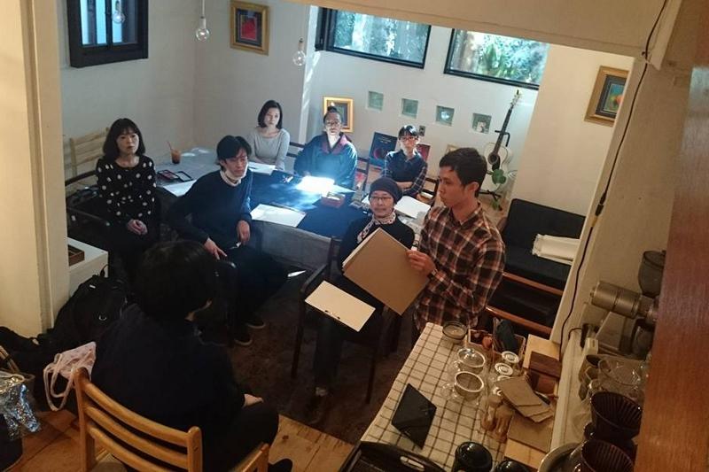 マルカフェ 美術部 御嶽山 malu cafe 墨絵 大田区