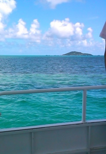 大神島を目指す