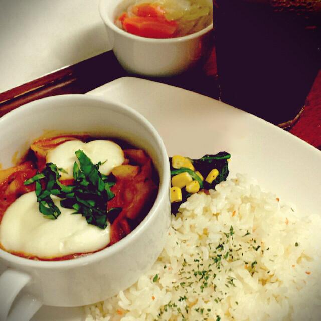 野菜とチキンのトマト煮