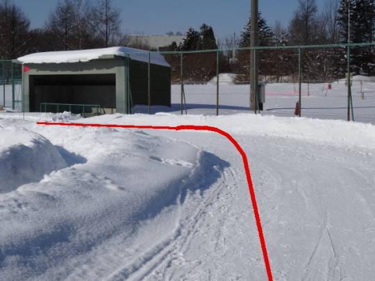 安平町追分区_柏が丘球場雪上コース (2)