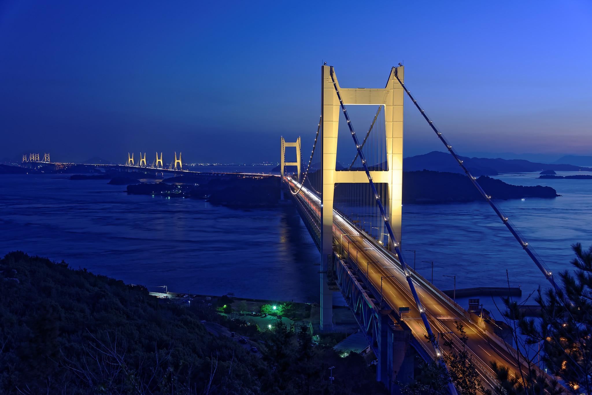 瀬戸大橋ライトアップ_DxO