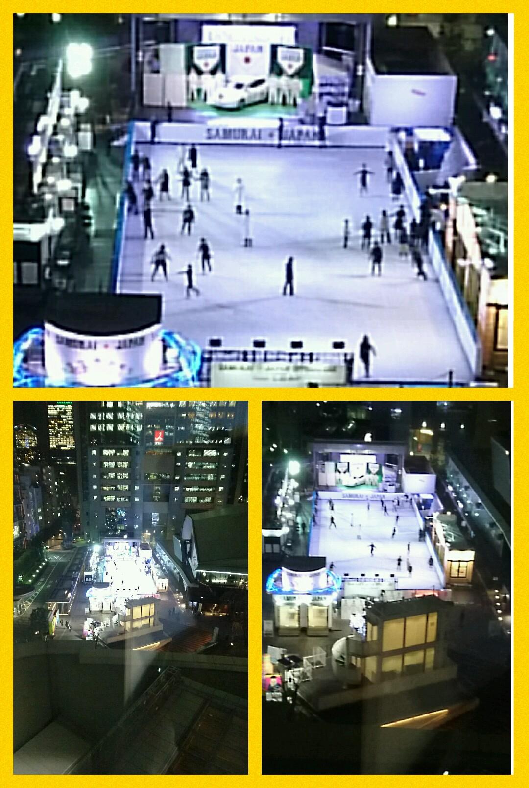 赤坂サカス スケート 日産リーフ 侍ジャパン