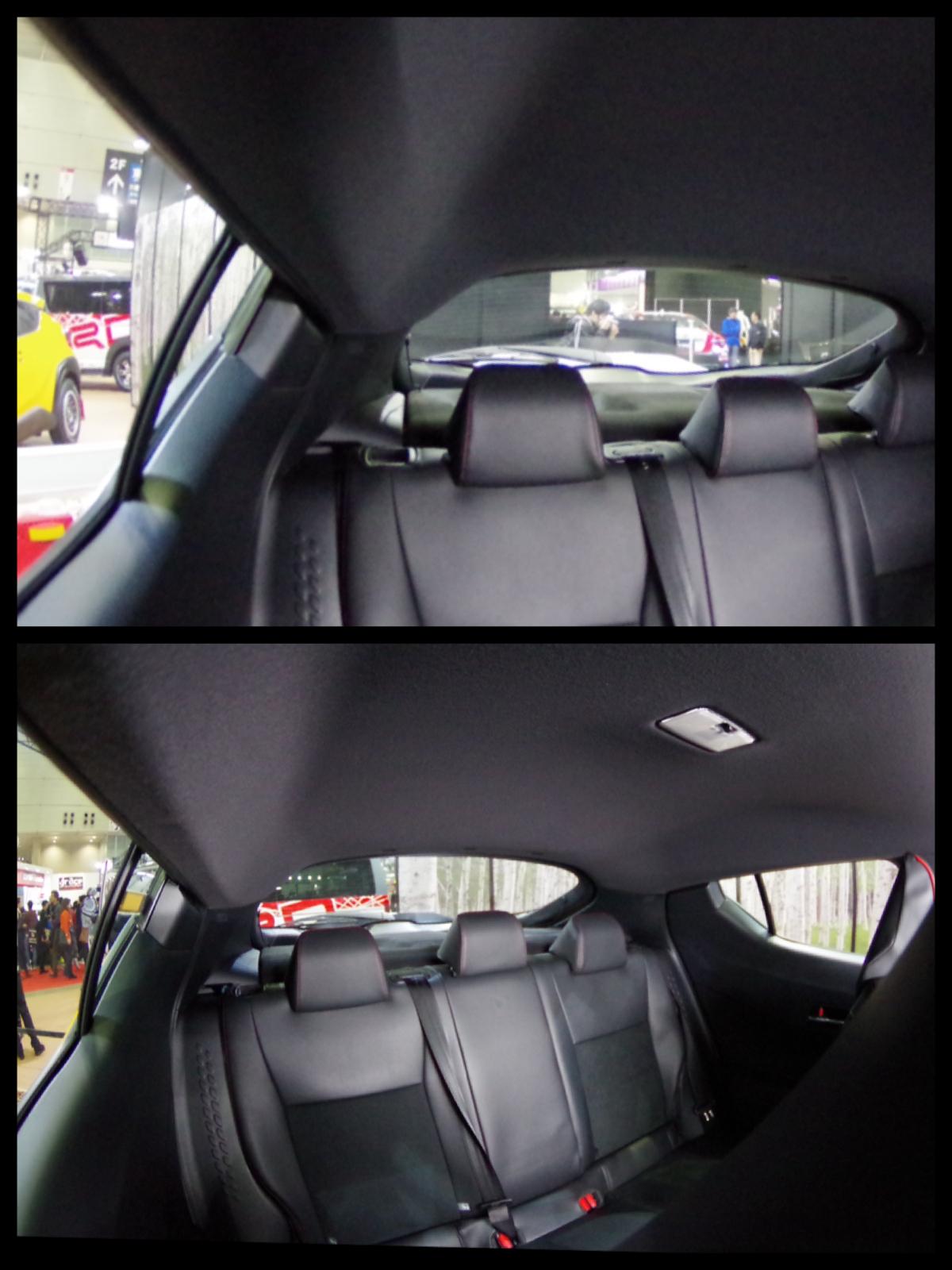 トヨタC-HR 後方視界 実写