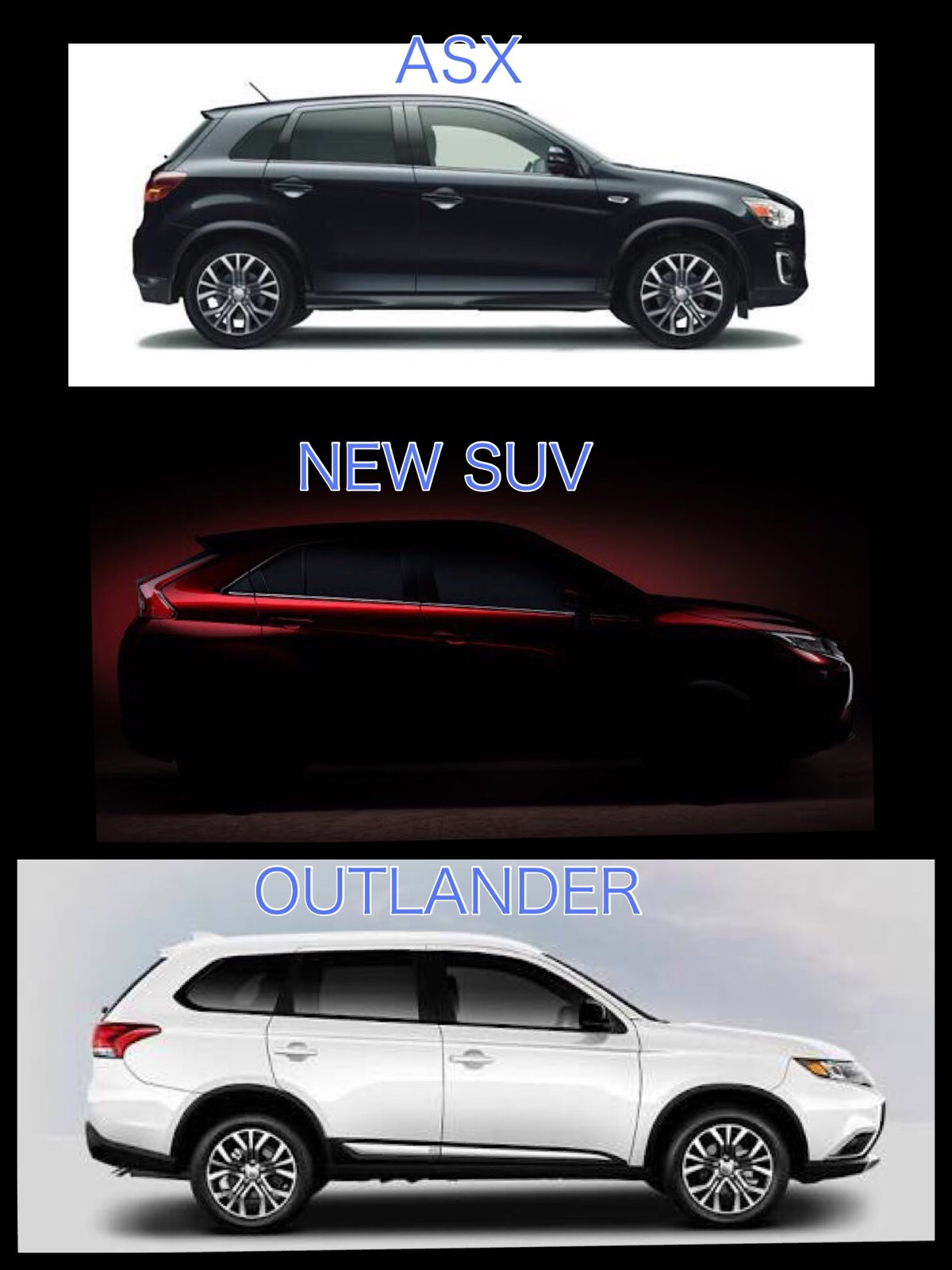 三菱新型SUV クーペ 2017 ASX アウトランダー比較