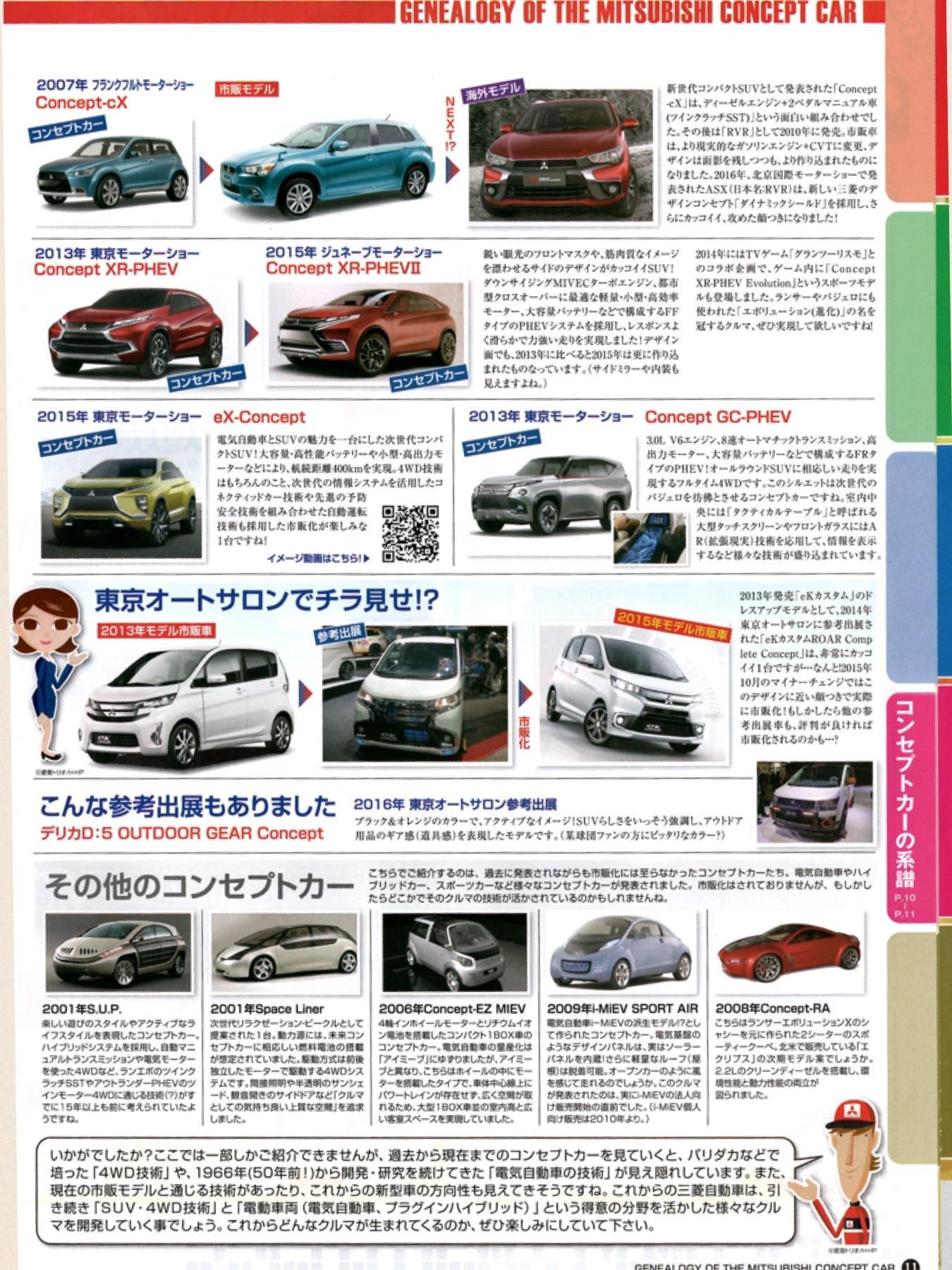 三菱初売りチラシ2017 三菱コンセプトカーの系譜